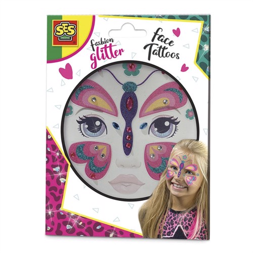 Image of Fashion Glitter Face Tattoos - Butterfly (8710341141486)