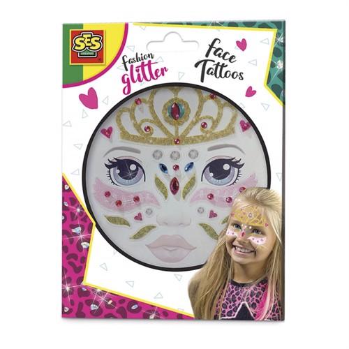 Image of Fashion Glitter Face tattoos -Princess (8710341141479)