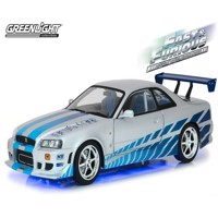 Fast & Furious - Diecast Model - 1999 Nissan Skyline GT-R34 with Light-Up Function - 1/18 (GL19041)