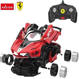 Image of Ferrari FXXK Fjernstyret Bil Byggesæt 1:18 (6930751317567)