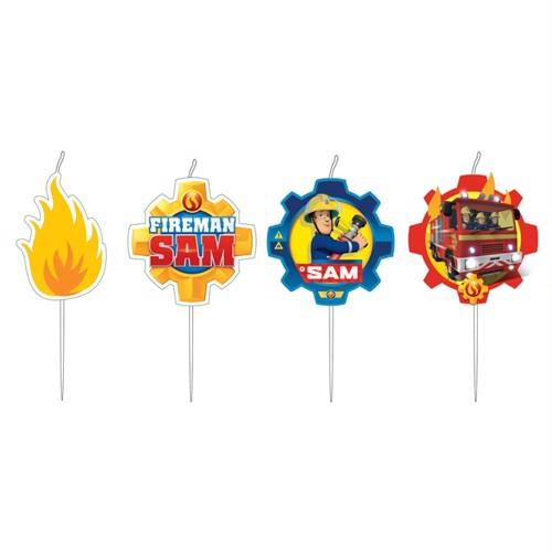 Image of Fireman Sam candles, 4pcs. (0013051743482)