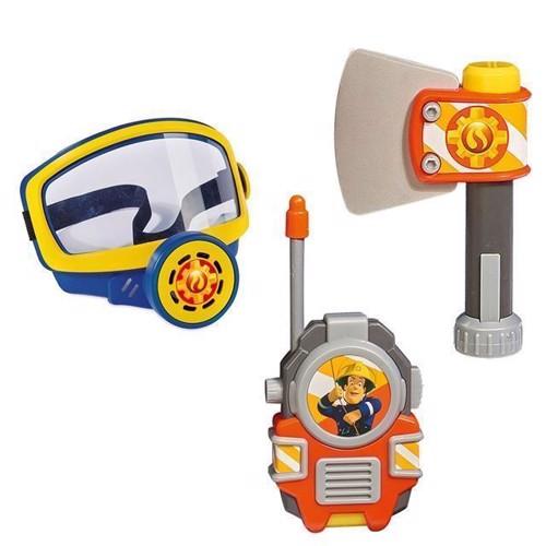 Image of Bandmand Sam, sæt med iltmaske, økse og walkie talkie