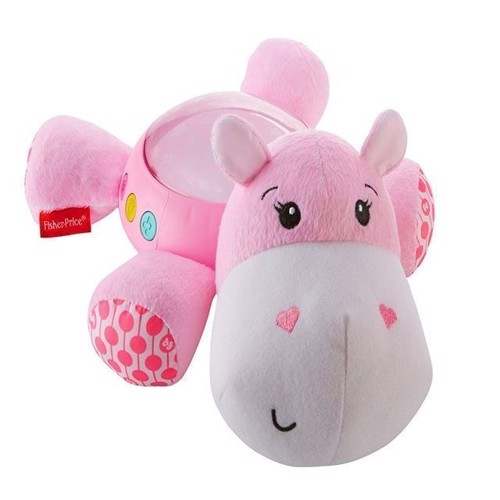 Fisher Price - Hippo Plush Projection Soother - Pink (FGG89)