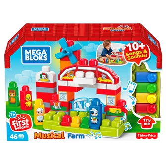 Image of Fisher Price Mega Bloks Musikalsk Bondegård