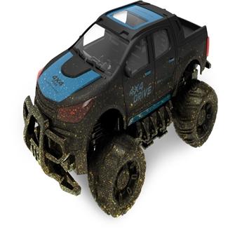 Image of Fjernstyret Mud Off-Road Truck 1:18 Sort/Blå, 2.4G (5712548146090)
