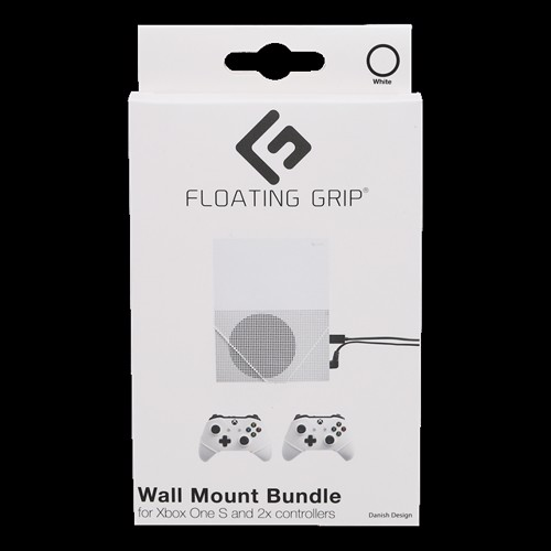 Image of Floating Grips Xbox One S and Controller Wall Mounts - Bundle (White) (5713474100101)