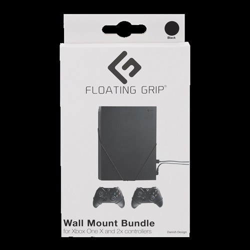 Image of Floating Grips Xbox One X and Controller Wall Mounts - Bundle (Black) (5713474114900)