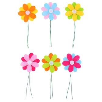 Image of Flower on stick, 6pcs. (8711252143163)