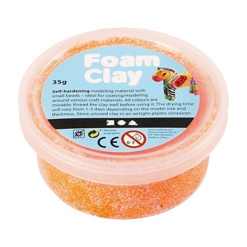 Image of Foam Clay Modellervoks - Neon Orange, 35g