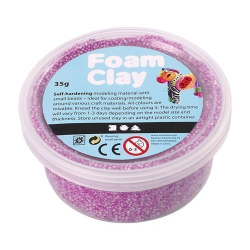 Image of Foam Clay Modellervoks - Neon Lilla, 35g