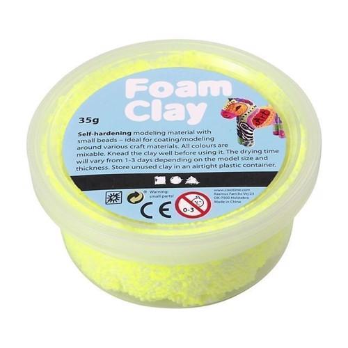 Image of Foam Clay Modellervoks - Neon Gul, 35g