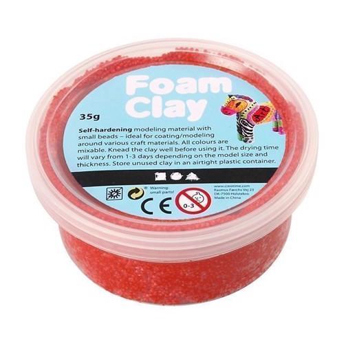 Image of Foam Clay Modellervoks - Rød, 35g (5707167200018)