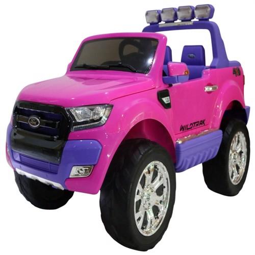 Image of Ford Ranger F650 4X4 12V Pink Med 4X12V Gummihjul Fjernbetjening