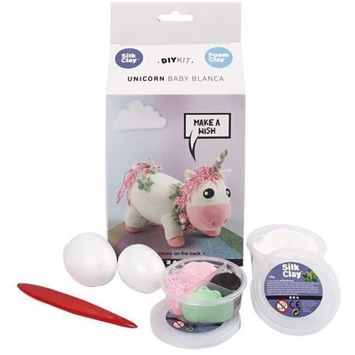 Image of Modellervoks, Silk Clay og Foam Clay, enhjørning lyserød (5712854180108)