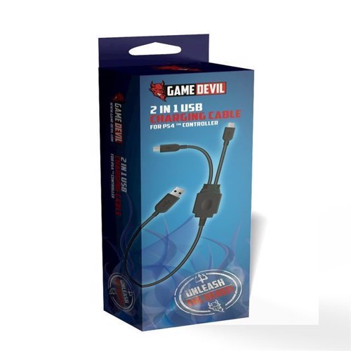 Image of Game Devil 2 in 1 USB Charging Cabel - PS4 (7350002937525)