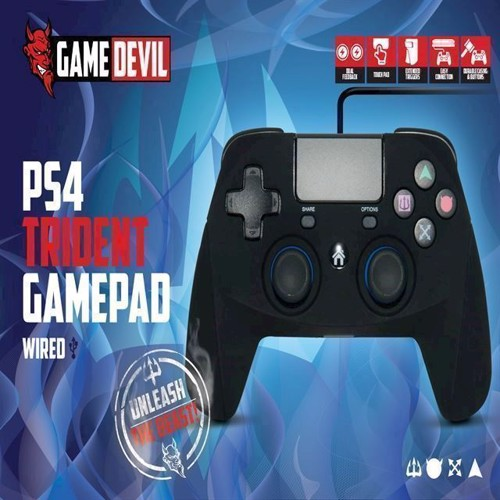 Image of   Game Devil Trident Wired Game Pad - PS4
