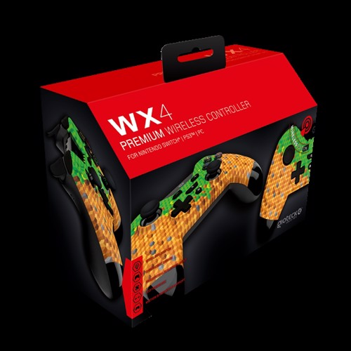 Image of Gioteck Nintendo Switch WX-4 Wireless BT Controller (Cubes) - Nintendo Switch (0812313010658)