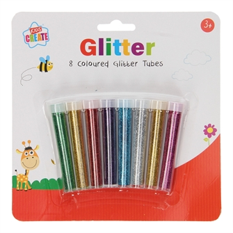 Image of Glitter Tubes, 8 Colors (5012128447501)