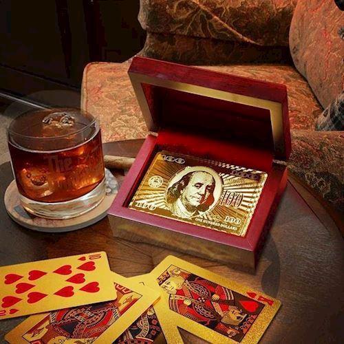 Image of Guld Spillekort i Gaveæske