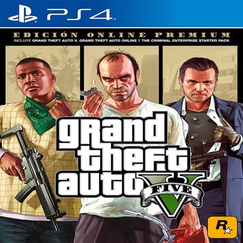 Image of Grand Theft Auto V Gta 5 Premium Online Edition, PS4 (5026555424264)