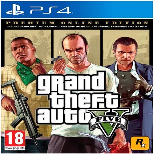 Image of Grand Theft Auto V (GTA 5) Premium Online Edition (ES) (Multi) - PS4 (5026555424295)