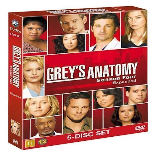 Image of Greys Anatomy Greys Hvide Verden Sæson 4 DVD (8717418182182)