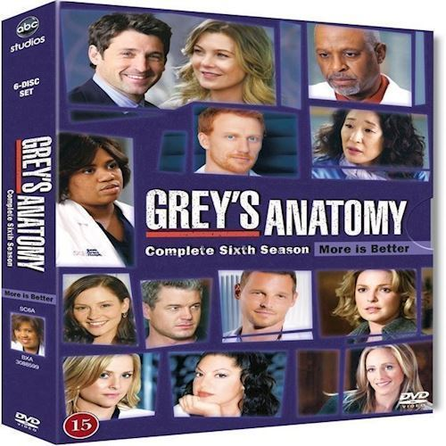 Image of Greys Anatomy Greys Hvide Verden Sæson 6 DVD (8717418338794)