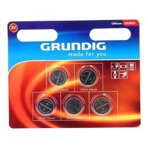 Image of Grundig knapcelle batteri CR2032, 5 stk