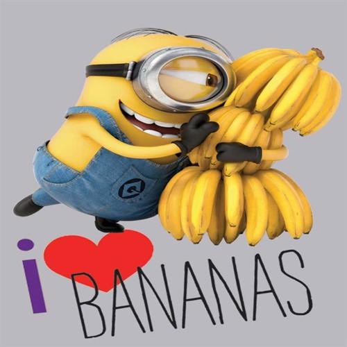Image of Grusomme Mig Minions Gulvtæppe Til Børn Love Bananas 133X95