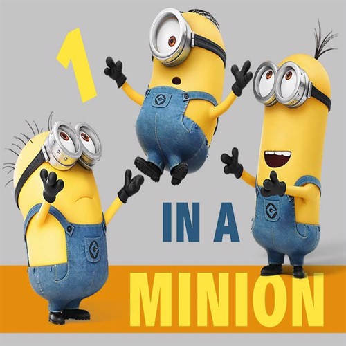 Image of Grusomme Mig Minions Gulvtæppe Til Børn One In A Minion 133X95