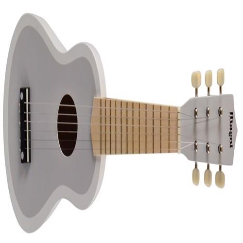 Image of Guitar til børn m. 6 strenge, grå/hvid