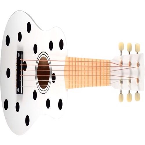 Image of Guitar til børn m. 6 strenge, prikket