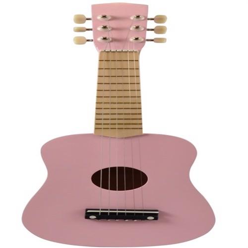 Image of Guitar til børn m. 6 strenge, rosa