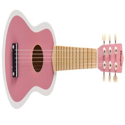 Image of Guitar til børn m. 6 strenge, rosa/hvid