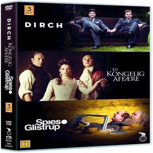 Image of   Guldboxen Dirch En Kongelig Affre Spies Glistrup 3 film DVD