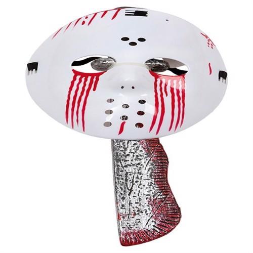 Image of Halloween Bloody Jason Mask w. Machete (95964) (7393616469419)