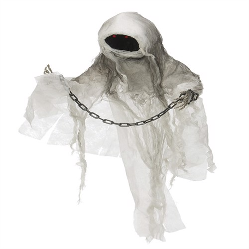 Image of Halloween Ghost w. Chain - Sound, Light and Movement (90092) (7393616402782)