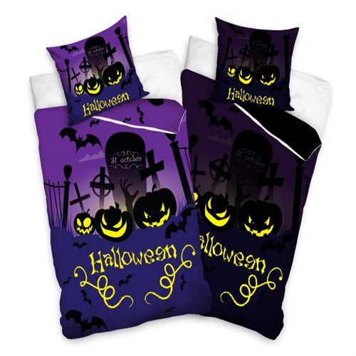 Image of Halloween Sengetøj 140X200 100 Procent Bomuld (5902689407239)