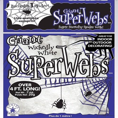 Image of Halloween spindelvæv, Hvid Gigant pakke (138g) (082686023306)