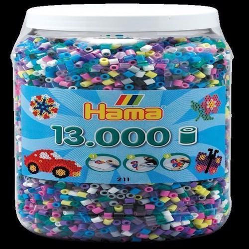 Image of Hama perler 13.000 perler i spand,mix 69 (0028178211691)