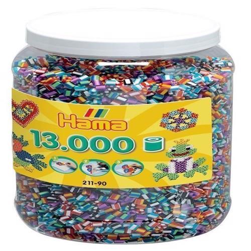 Image of Hama perler 13.000 perler i spand, stripede (0028178211905)