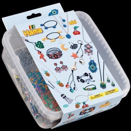 Image of Hama Mini perler, perler og plader i kasse (0028178054038)