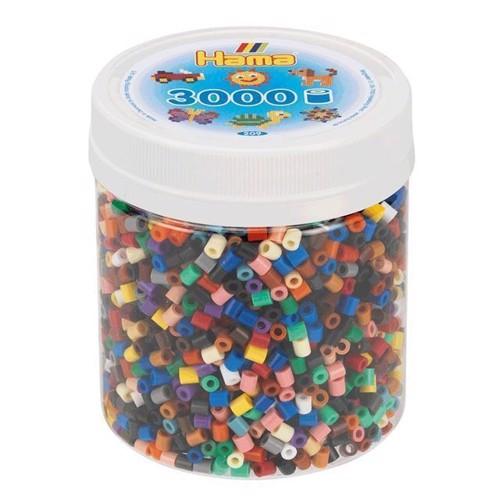 Image of hama perler, farve mix 3000 stk