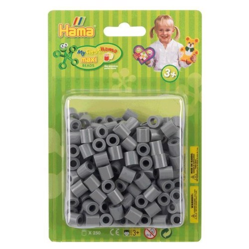 Image of Hama Maxi perler grå 250 stk