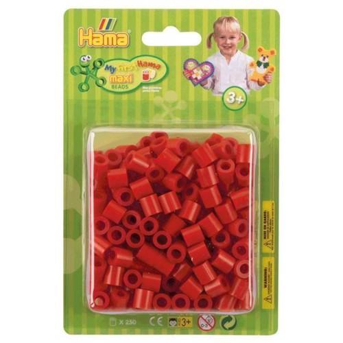Image of Hama Maxi perler rød 250 stk (028178085056)