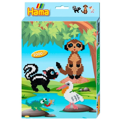 Hama Ironing Beads Set - Animals, 2000st.