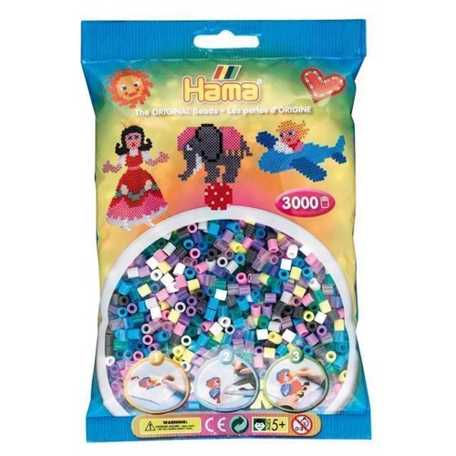 Image of Hama perler, mix sæt 3000 stk
