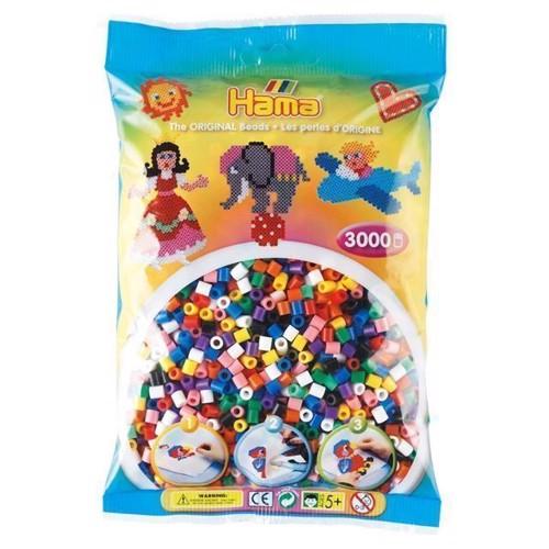 Hama perler, mix sæt 3000 stk