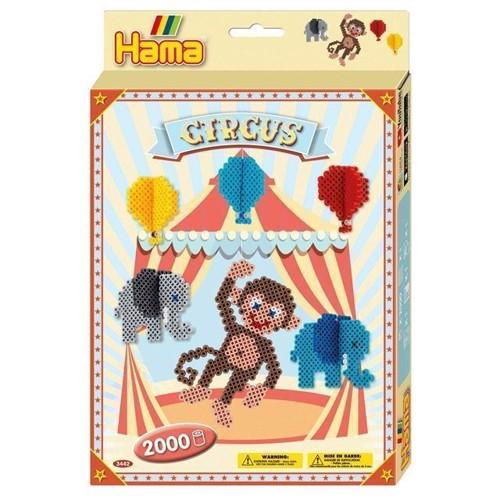 Image of Hama perlesæt, cirkus 2000 stk