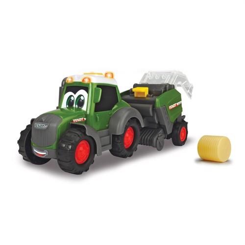 Image of Happy fendt traktor med baler
